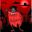 Royalty-Free Stock Vector Image: Dracula, Happy Halloween