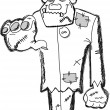 Royalty-Free Stock : Frankenstein cartoon, happy Halloween