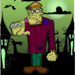 Royalty-Free Stock Vector Image: Frankenstein cartoon, happy Halloween
