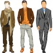Stock Vector: Fashion men