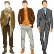 Fashion men — Stock Vector