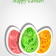 Happy Easter vector card — Stock Vector