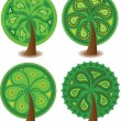 Royalty-Free Stock Vector Image: Set of icons of different trees, the vector
