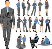 Business crew — Stock Vector