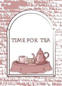 Time for tea, vector background — Stock Vector