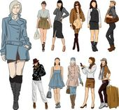 Fashion - vector — Stock Vector