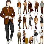 Set of fashion — Stock Vector
