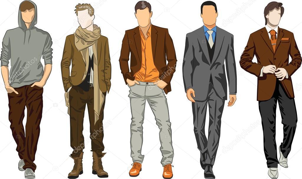 Рисовать костюм мужской