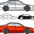 Cars collection - vector — Stockvektor
