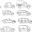 Stock Vector: Cars collection - vector