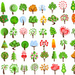 Set of icons of different trees — Stock Vector #13983411