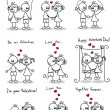 Royalty-Free Stock Imagem Vetorial: Couple in love, a child's drawing, the vector