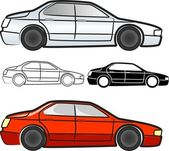 Cars collection - vector — Stock Vector