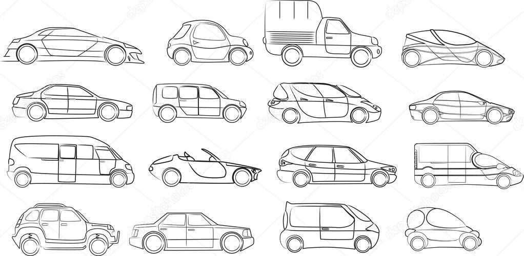 汽车收藏-矢量