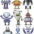 Cartoon robots — Stock Vector
