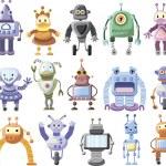 Cartoon robots — Stock Vector #32017325