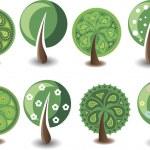 Set of vector trees — Stock Vector #32017591