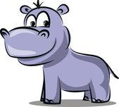 Cartone animato ippopotamo — Vettoriale Stock