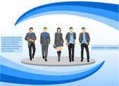 Business people — Stockvektor