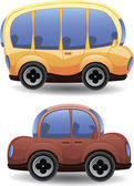 Cute cartoon cars — Stock Vector