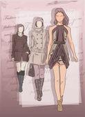Fashion women — Stockvektor
