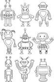 Cartoon robots — Stock Vector