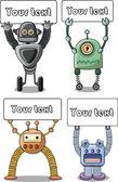 Cartoon robots set - vector — Stock Vector