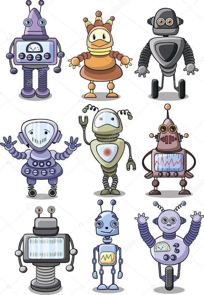 卡通机器人 — 图库矢量图像08