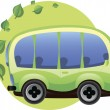 Eco-friendly car — Stock Vector
