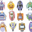 Set of cartoon robots — Stock Vector #32057233