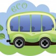 Eco-friendly cartoon car — Stock Vector