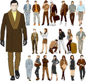 Set of fashion people — Stock Vector