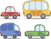 Tecknade bilar — Stockvektor