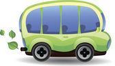 Eco-vriendelijk tekenfilm auto — Stockvector