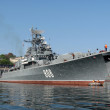 Stock Photo: Military ship of Russifleet on raid