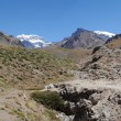 The south wall of Aconcagua mountain — Foto de Stock
