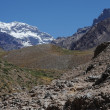 The south wall of Aconcagua mountain — Zdjęcie stockowe