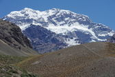 The south wall of Aconcagua mountain — Stock Photo