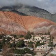 Cerro 7 colores at Purmamarca on argentina andes - Stockfoto