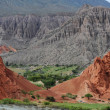 Cerro 7 colores at Purmamarca on argentina andes - Stock Photo