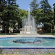 Stock Photo: Fountain on square of Italy at Mendoza, Argentina