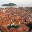 The peninsola of Dubrovnik UNESCO world heritage site — Stock Photo