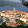 The town of Korcula, Croatia — Foto de Stock
