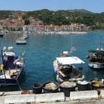 The port at Rio Marina on Elba island, Italy — Stock Photo
