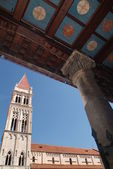 Cathedral of San Lorenzo at Trogir UNESCO world heritage site — Stock Photo