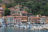 The village of Rio Marina on Elba island — Foto Stock