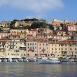 The port of Portoferraio on Elba island - Stock Photo