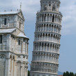 Inclined tower of Pisa on Toscany — Stock Photo