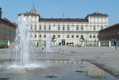 Palazzo Reale on castle square at Torino on Italy — Stock Photo