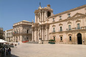 The Cathedral of Noto on Sicily UNESCO world heritage — Stock Photo